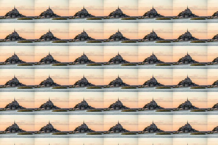 Vinylová Tapeta Mont Saint Michele za soumraku Francii - Prázdniny