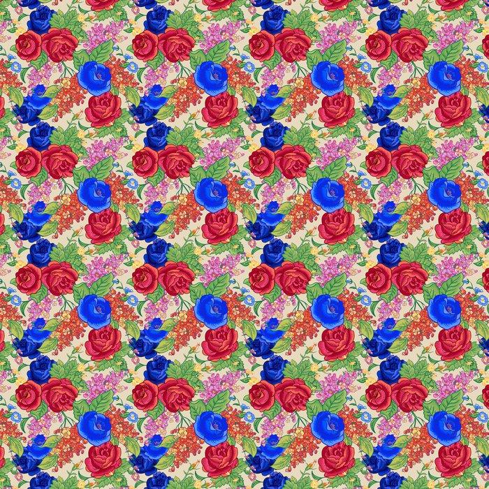 Vinylová Tapeta Bezešvé pozadí s kytice květin. - Květiny