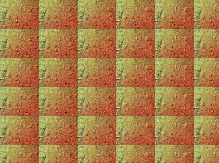 Vinylová Tapeta Grunge stěna zeleno-červená - Struktury