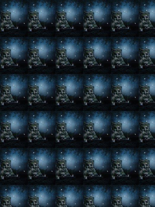 Vinylová Tapeta Starý strom v kouzelném lese v noci - Lesy