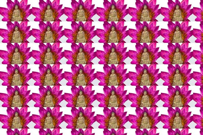 Vinylová Tapeta Socha Buddhy s lotosového květu - Náboženství