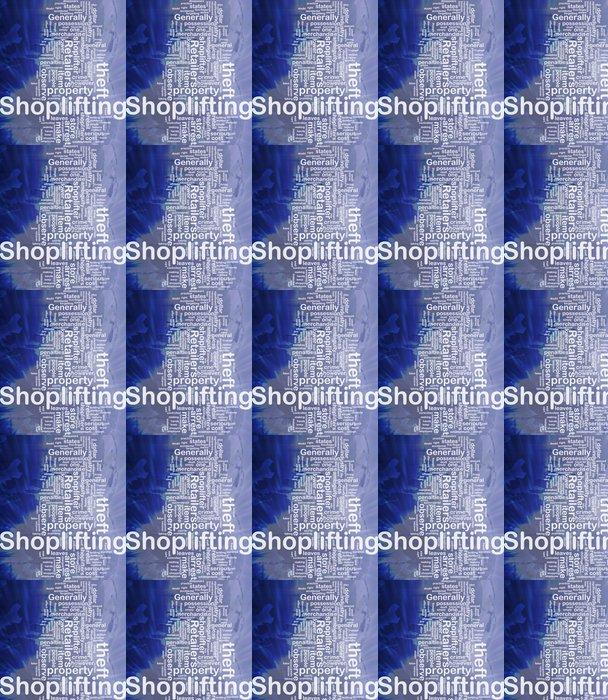 Vinylová Tapeta Krádeže v obchodech na pozadí pojetí - Nebe