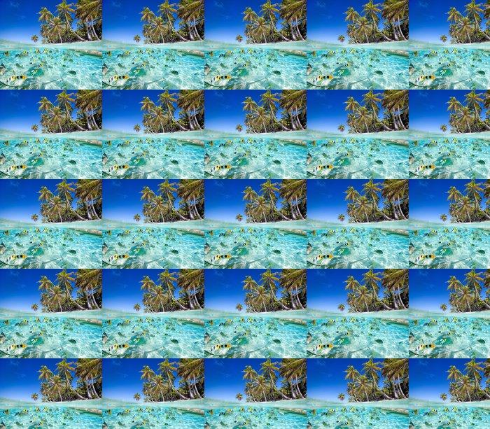 Vinylová Tapeta Tropický ostrov nad a pod vodou - Ryby