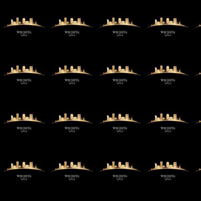 Tapete Wichita Kansas Stadt Silhouette schwarzem Hintergrund ...