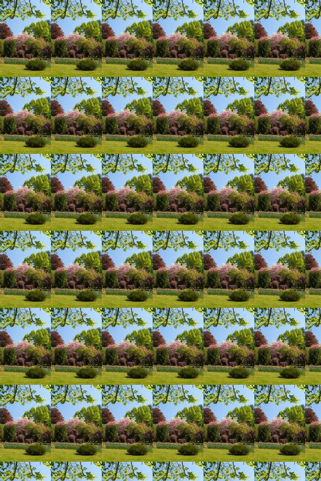 Vinylová Tapeta Jarní krajina s barevnými květy a strom - Příroda a divočina