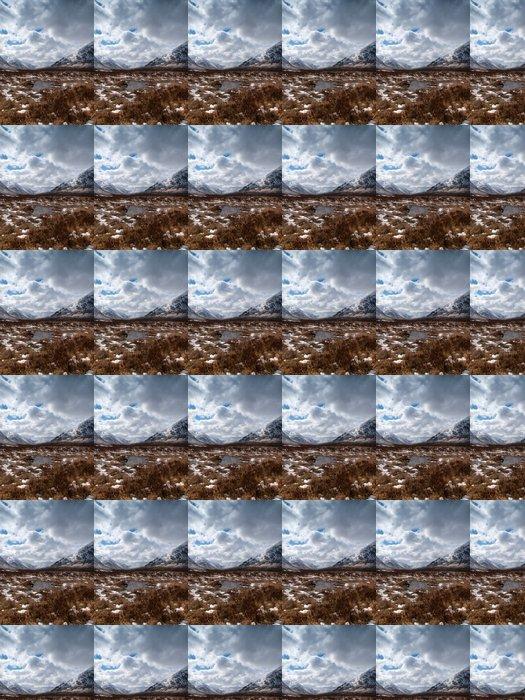 Vinylová Tapeta Zimní krajina na skotské vysočině - Hory