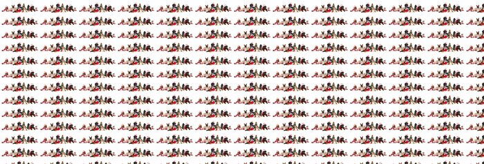 dog and cat and kitens wearing a santa hat Vinyl Wallpaper - Mammals