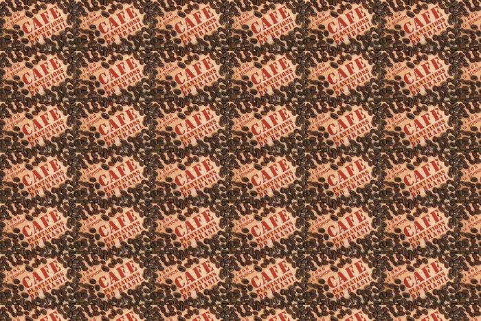 Vinylová Tapeta Kávová zrna na dřevěné krabici - Témata