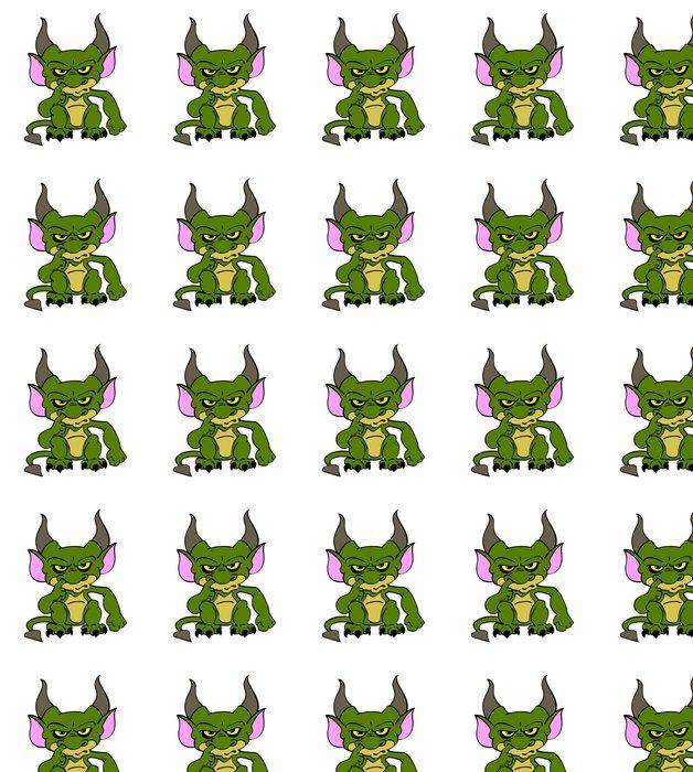 Vinylová Tapeta Halloween Goblin Zelená - Mezinárodní svátky