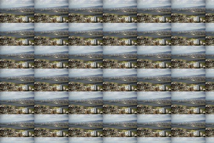 Vinylová Tapeta Letecký pohled na město, Osaka, Japonsko - Asie