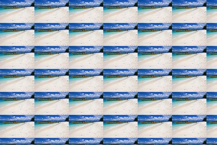 Vinylová Tapeta Žluté lodě na pláži na ostrově Gili Trawangan - Asie