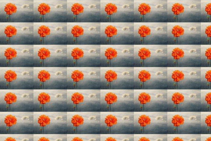 Vinylová Tapeta Mák proti obloze s oblak - Květiny