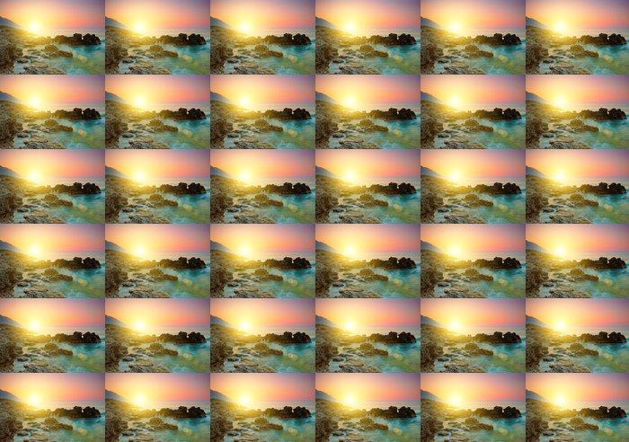 Tapeta Winylowa Morze zachód słońca - Niebo