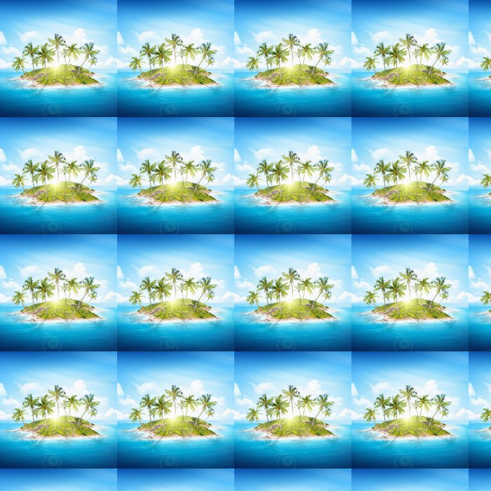 Tropical island Vinyl Wallpaper - Holidays
