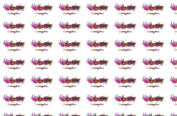 Vinylová Tapeta Guangzhou panorama v akvarel - Asie