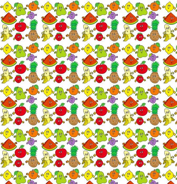 Vinylová Tapeta Různé karikatura ovoce - Ovoce
