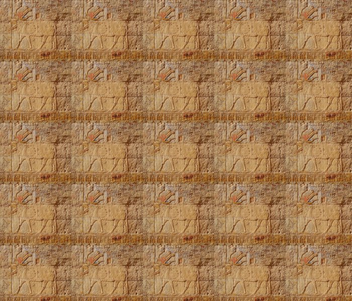 Vinylová Tapeta Bas-reliéf z chrámu Hatsepsut, Egypt, UNESCO WH - Afrika