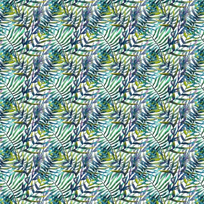Vinylová Tapeta Listy abstraktní vzor pozadí tapety akvarel - iStaging