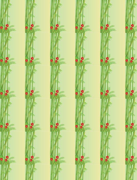 Vinylová Tapeta Tropická bambusové pozadí - Stromy