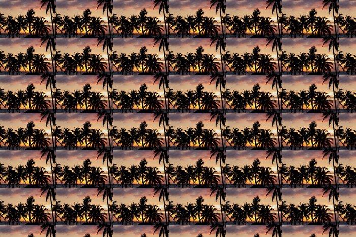 Vinylová Tapeta Palme al tramonto - Nebe