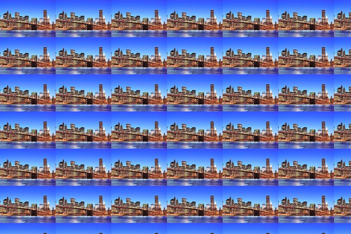Vinylová Tapeta Brooklynský most s centrální New York City Manhattan - Brooklynský Most