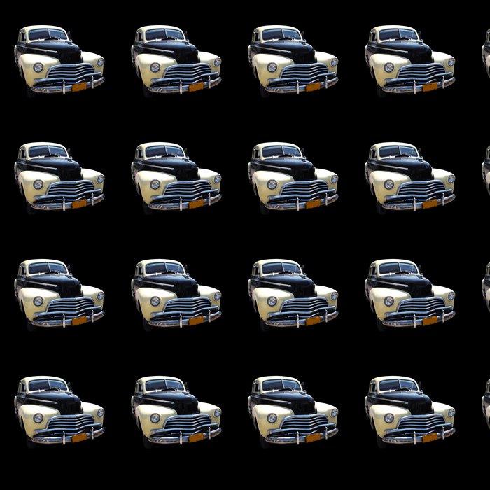 Vinylová Tapeta Vinobraní klasické americké auto na černém - Na cestě