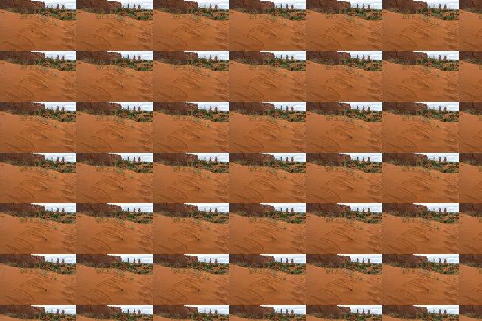 Vinylová Tapeta Slovo Utah na písku - Tower Arch Trail - Amerika