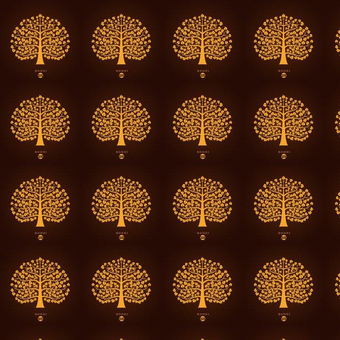 Vinylová Tapeta Golden Bodhi strom symbol, vektorové ilustrace - Životní styl, péče o tělo a krása