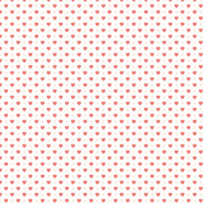 Vinylová Tapeta Vektorové bezešvé retro vzor se srdíčky - Pozadí