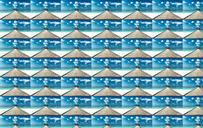 Vinylová Tapeta Pláž s molem - Moře a oceán