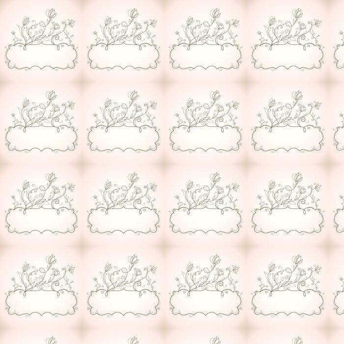 Vinylová Tapeta Rám s květinovými prvky - Národní svátky
