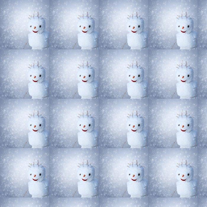 Vinylová Tapeta Funny Sněhulák s Carot a klacky pod zasněžené pozadí - Roční období