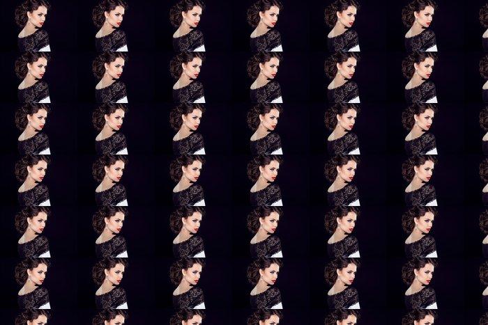 Vinylová Tapeta Krajky, guipure, hledáte, diamant, oči, rty, červená, hlava, krk, retro, Luxur - Žena