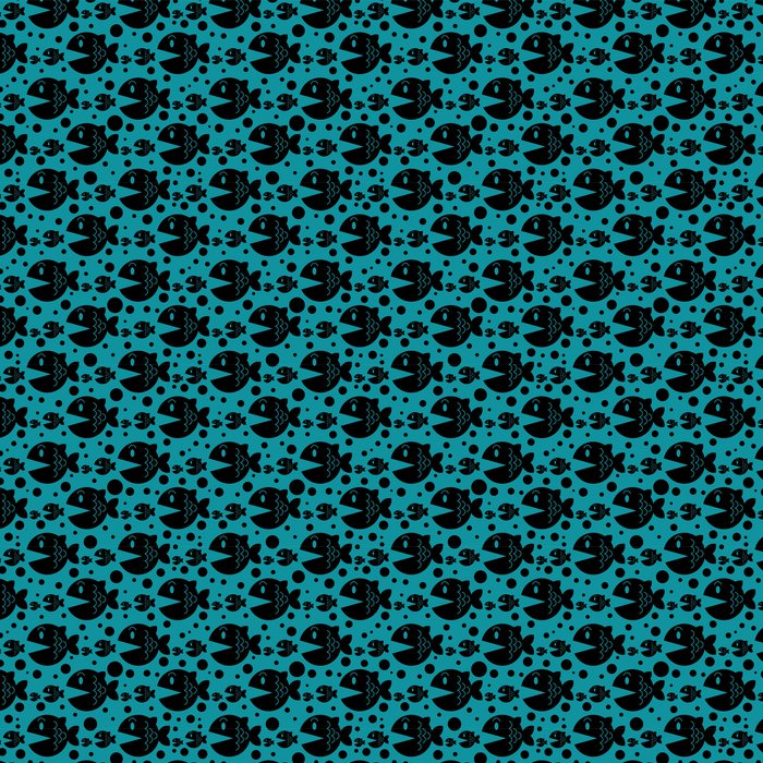 Seamless pattern with funny fish Vinyl Wallpaper - Backgrounds