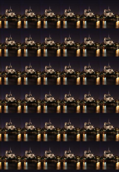 Vinylová Tapeta Notre Dame noční scéna - Evropská města
