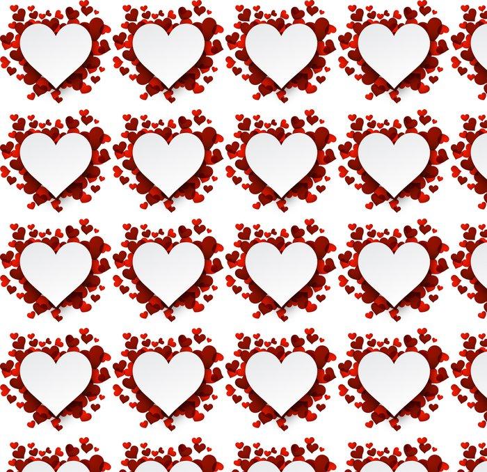 Vinylová Tapeta Valentýnské pozadí s červeným srdcem. - Mezinárodní svátky