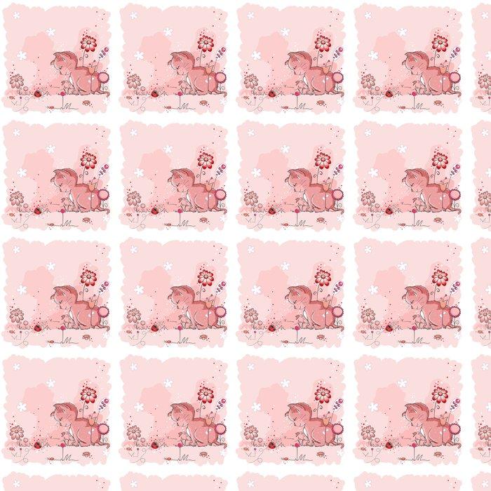 Vinylová Tapeta Kitty a beruška - přátelé přání - Savci