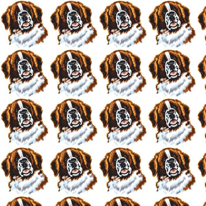 Papier Peint à Motifs Vinyle Saint Bernard chien - Mammifères