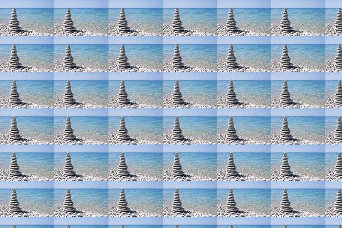 Vinylová Tapeta Lázně kámen na břehu moře - Roční období