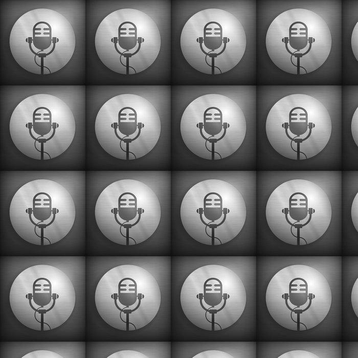 Tapete Retro Mikrofon-Symbol in grau und schwarz, Vektor • Pixers ...