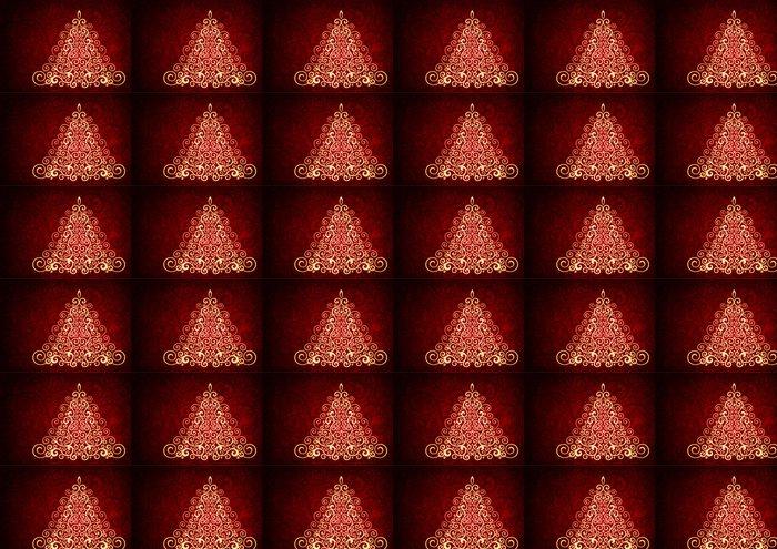 Vinylová Tapeta Červená vánoční vektor květinové ilustrace. - Prázdniny