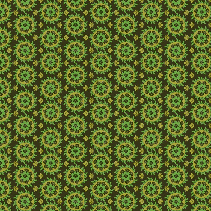 Vinylová Tapeta Vektorové bezešvé květinový vzor zelená - Pozadí