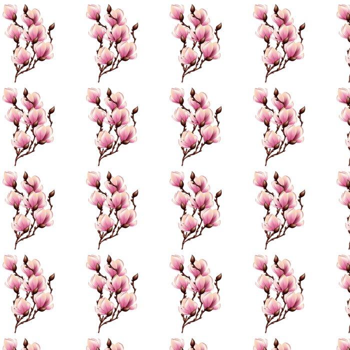 Vinylová Tapeta Magnolia pobočka izolované -