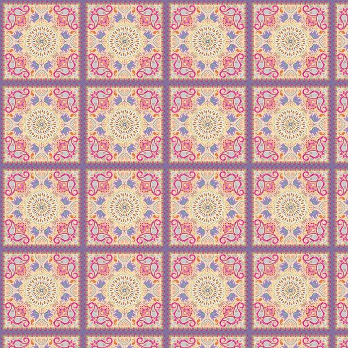 Vinylová Tapeta Šátek nebo šála s Elephant a květinovým motivem - Styly