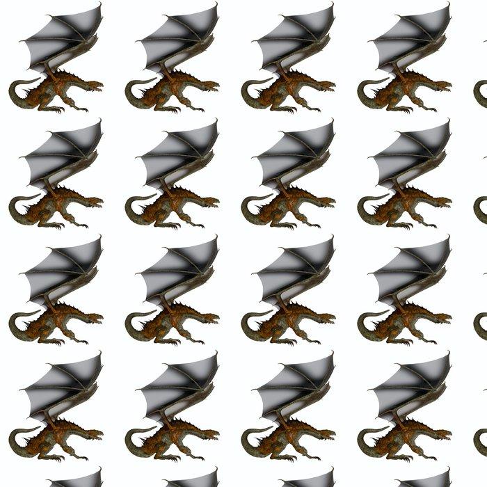 Vinylová Tapeta Hunter Dragon Profil - Nálepka na stěny