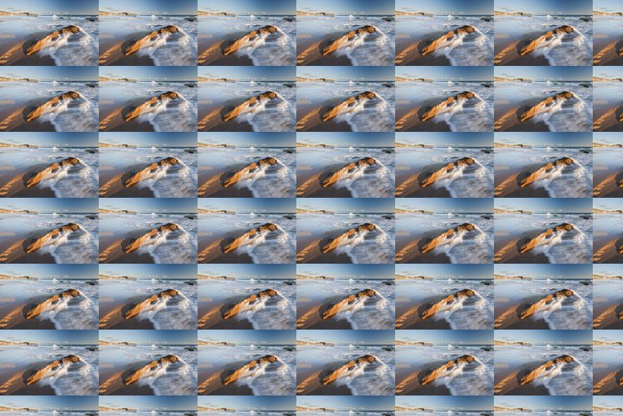 Vinylová Tapeta Vlna Mytí přes skály v Crystal Cove Laguna Beach v Kalifornii - Voda