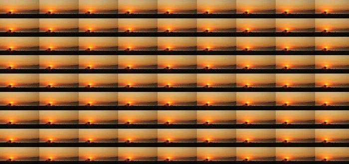 Vinylová Tapeta Orange Sunset Podél moře v Venice Beach v Kalifornii - Příroda a divočina
