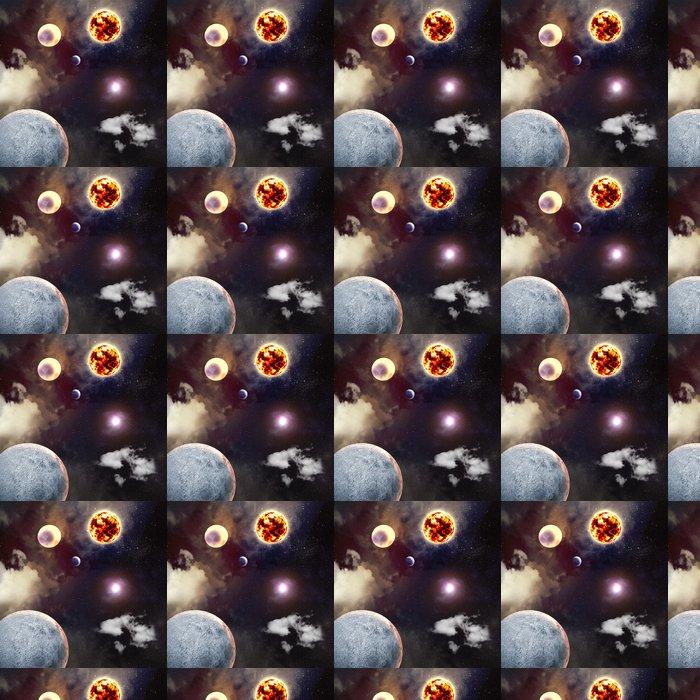 Carta da Parati a Motivi in Vinile Immagine di pianeti nello spazio - Universo