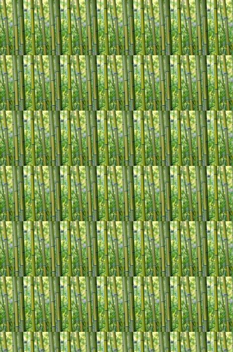 Vinylová Tapeta Zelené bambusové kmeny stromů, detailní - Rostliny