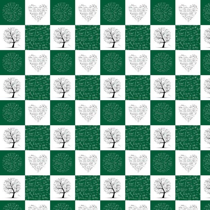 Tapete Math-Kollektion: Rahmen, Baum, nahtlose Hintergrund • Pixers ...